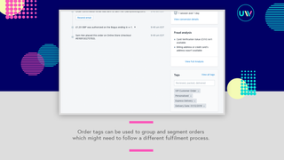 Tags can now be added to the Order Notes field