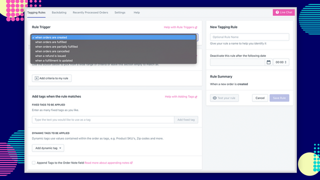 Use any trigger to build a order tagging workflow