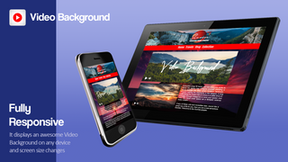 It displays an awesome Video Background on any device