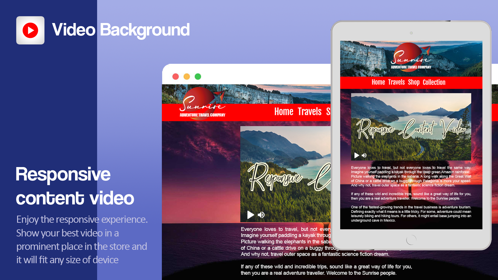 Show your best video in a prominent place in the store