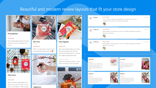 Collect reviews with photos and display them in beautiful layout
