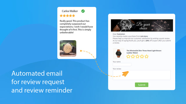 product review email to collect customer reviews