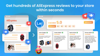 Free AliExpress reviews importer in one click