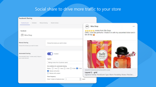Share product reviews to social to increase store traffic