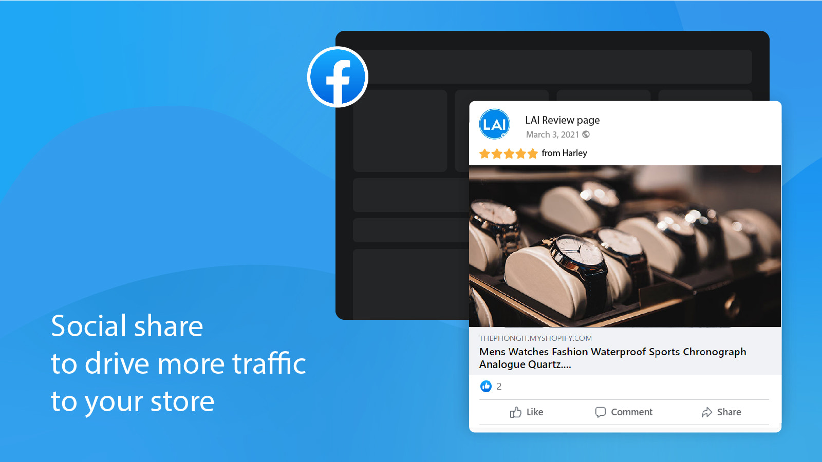 social share product reviews to attract more customers