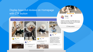 Show off your best reviews on Homepage