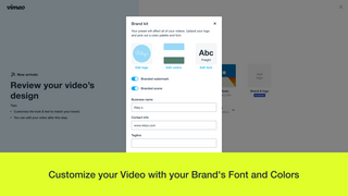 customize product video for Shopify with brand colors and font