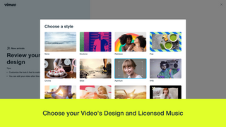 Choose your video's design and licensed music