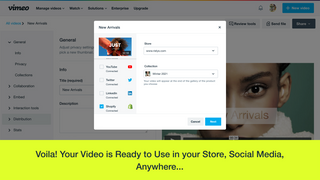 Your video is ready to use in your store, social media, anywhere