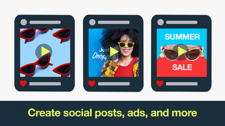 Create social posts, ads, and more