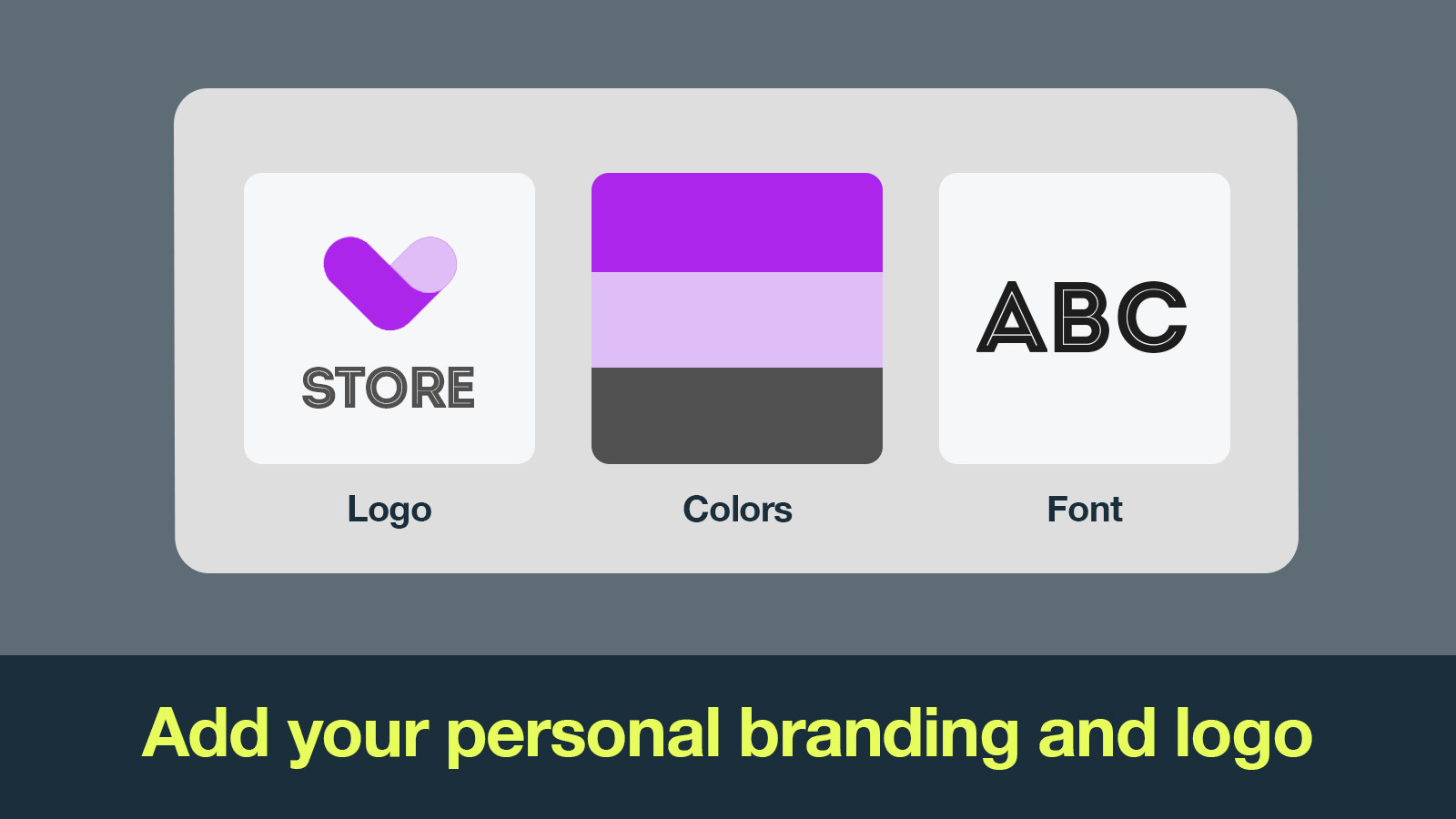 Customize your video with your brand's font and colors