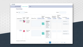 Manage delivery date & time settings for each individual product