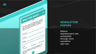 uptain newsletter popups