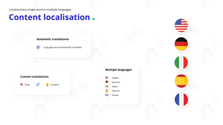 Localise every single word in multiple languages.