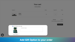 Add Gift Option to your order