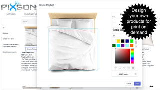 Design your own products for print on demand