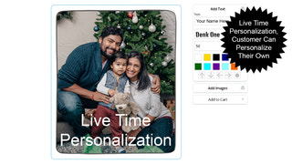 Live Time Personalization, Customer can personalize their own