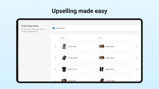 Upselling made easy