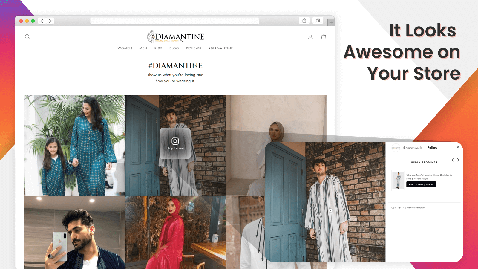 Configure shoppable Instagram with popup