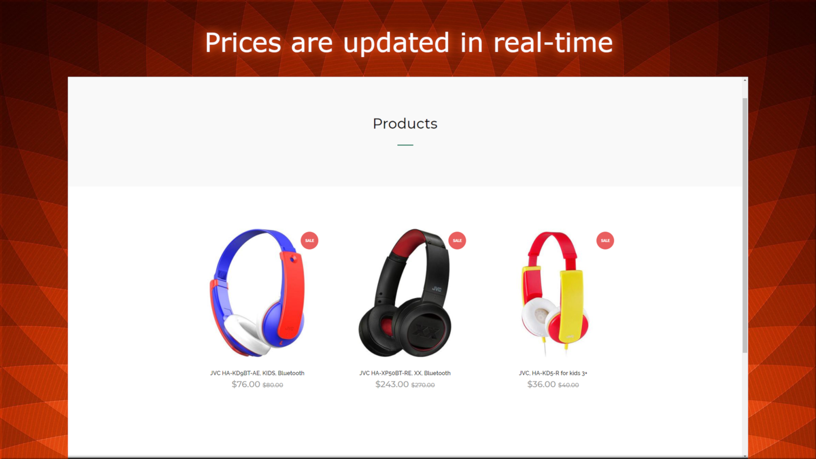 Store prices while the campaign is running