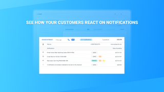 See how your customers react on notifications