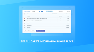 See all cart's information in one place