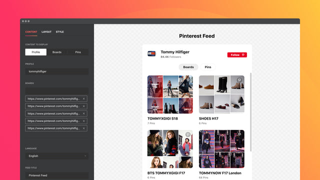 Display your profile with elements of authenticity on the header