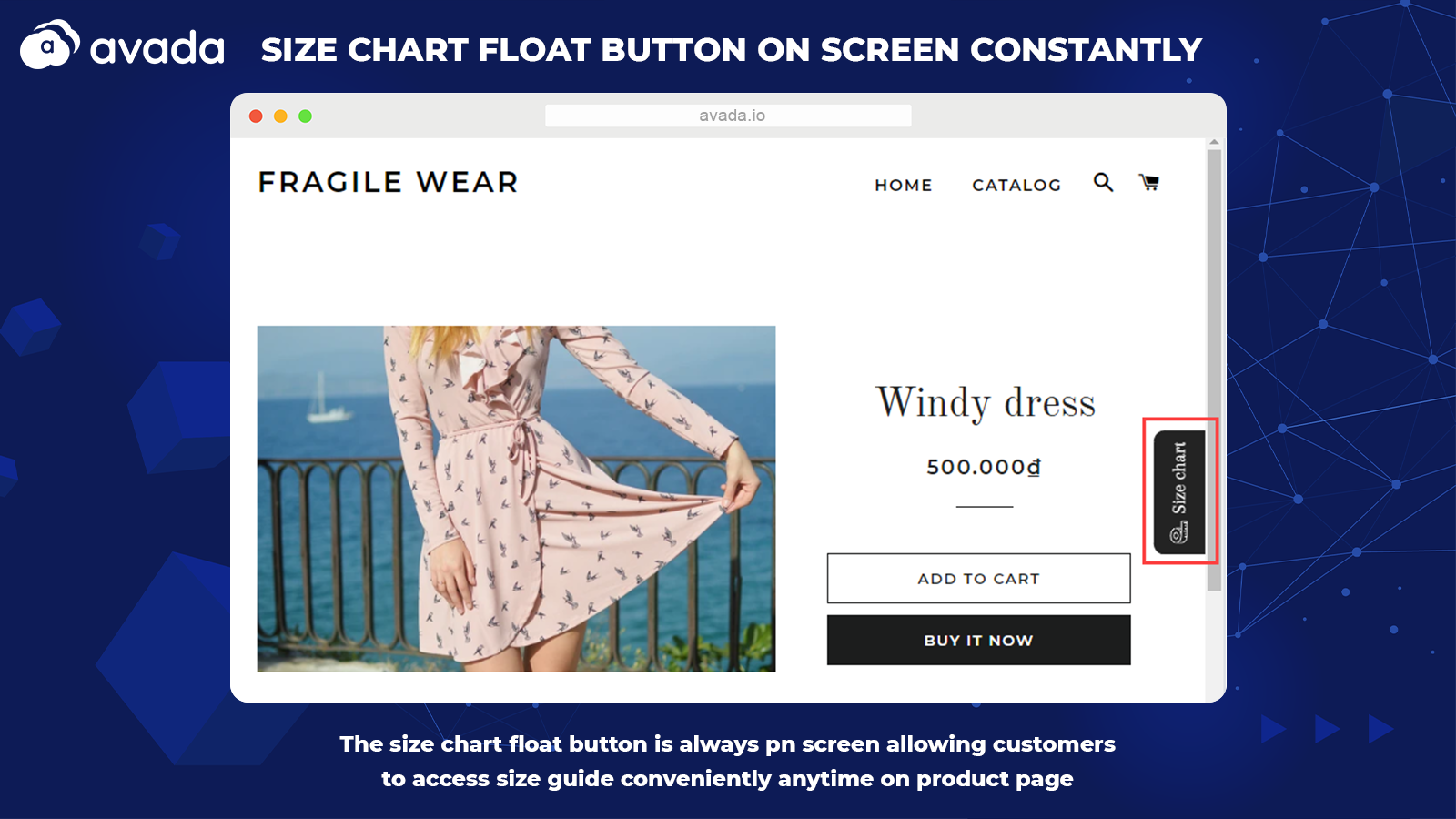 Floating button