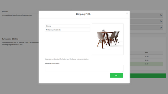 Clipping path on your product images