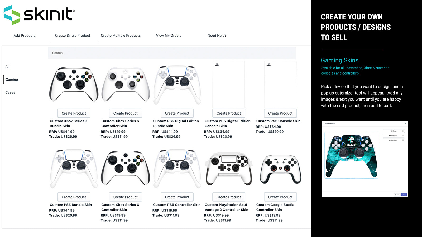 Pick and Customize your Gaming model