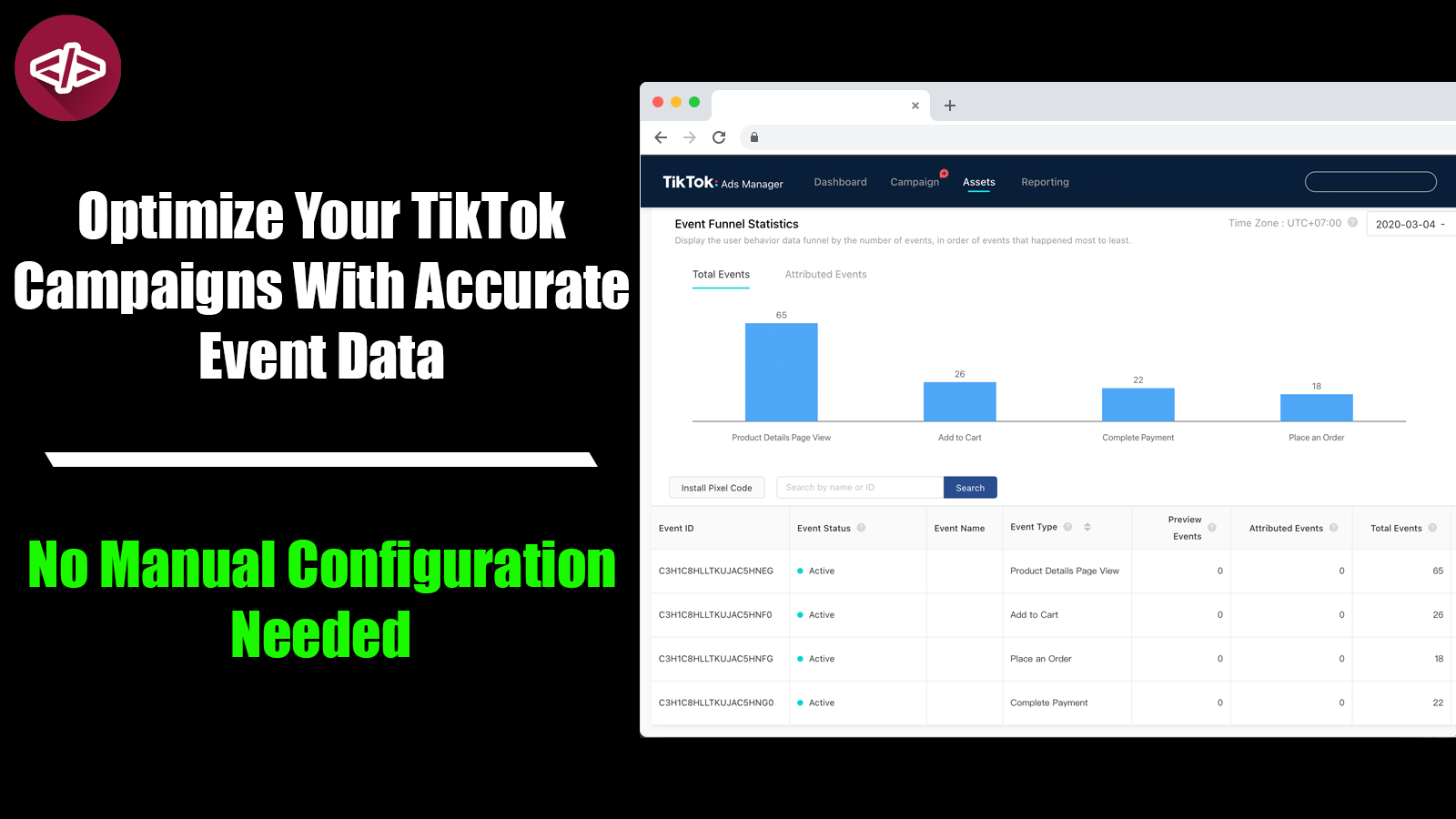 The app in action: The dashboard of the TikTok Ads