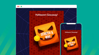 Attractive Scratch cards and festivals template library