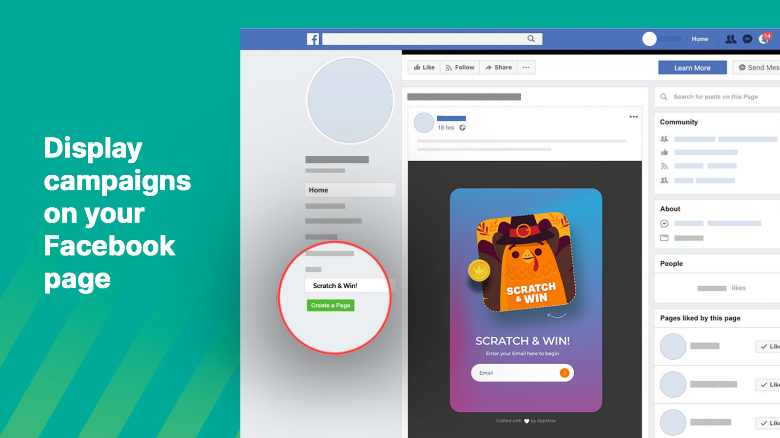 Display campaigns on your Facebook page