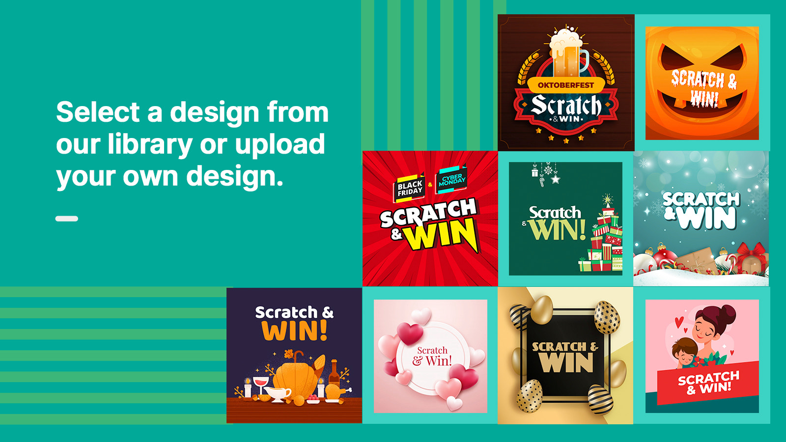 Attractive Scratch cards- Design library available.