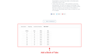Block of Tabs