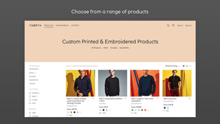 Choose from a range of
