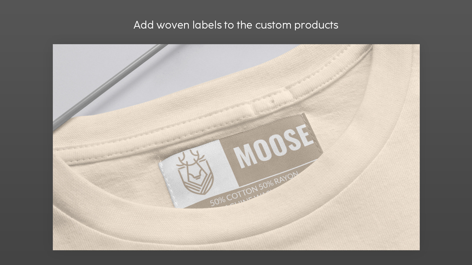Add woven labels to the custom products
