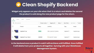 Product deletes from Shopify.  Clean and built for Shopify.