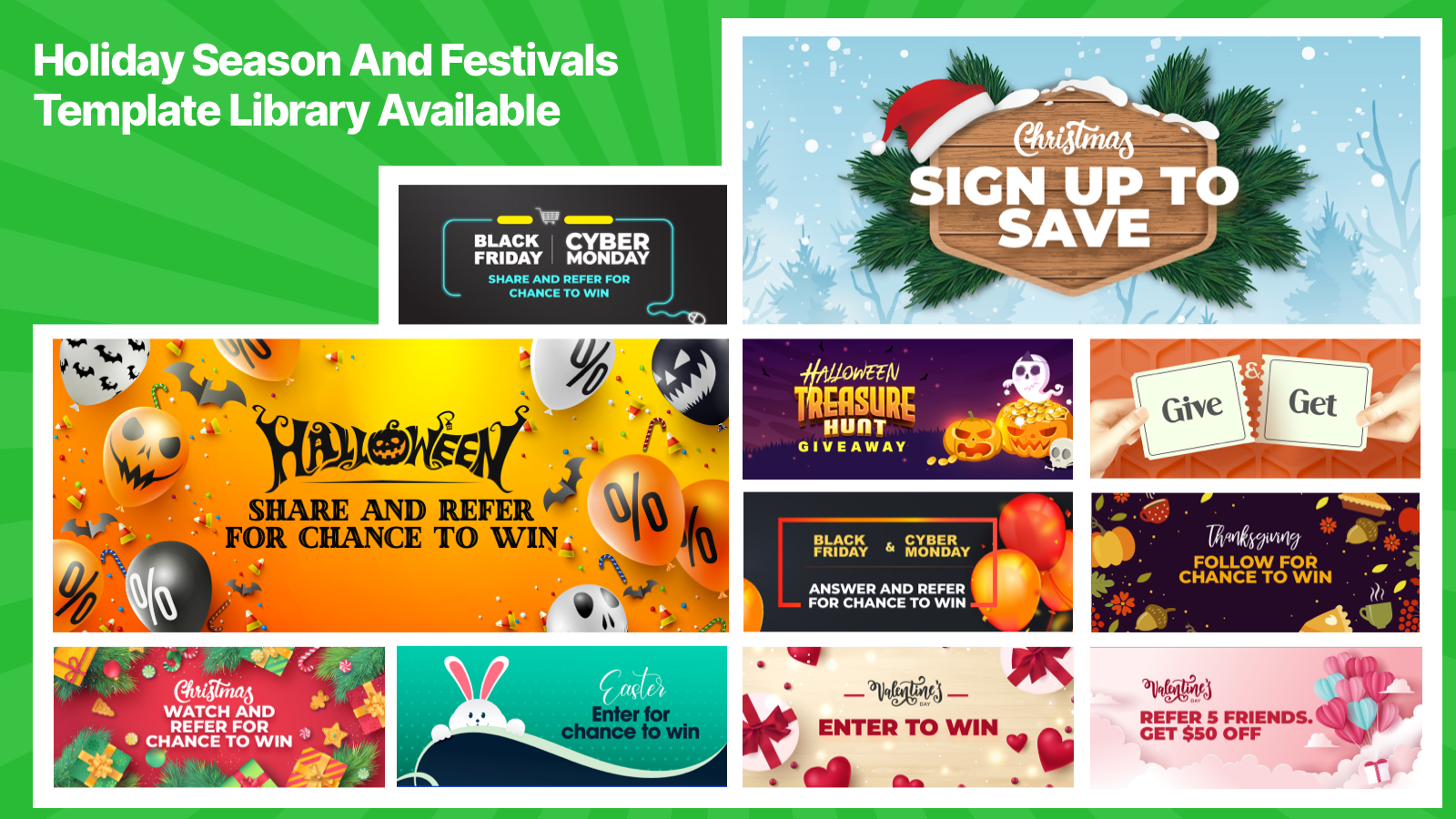 More Examples of instant win, giveaways, viral share campaigns