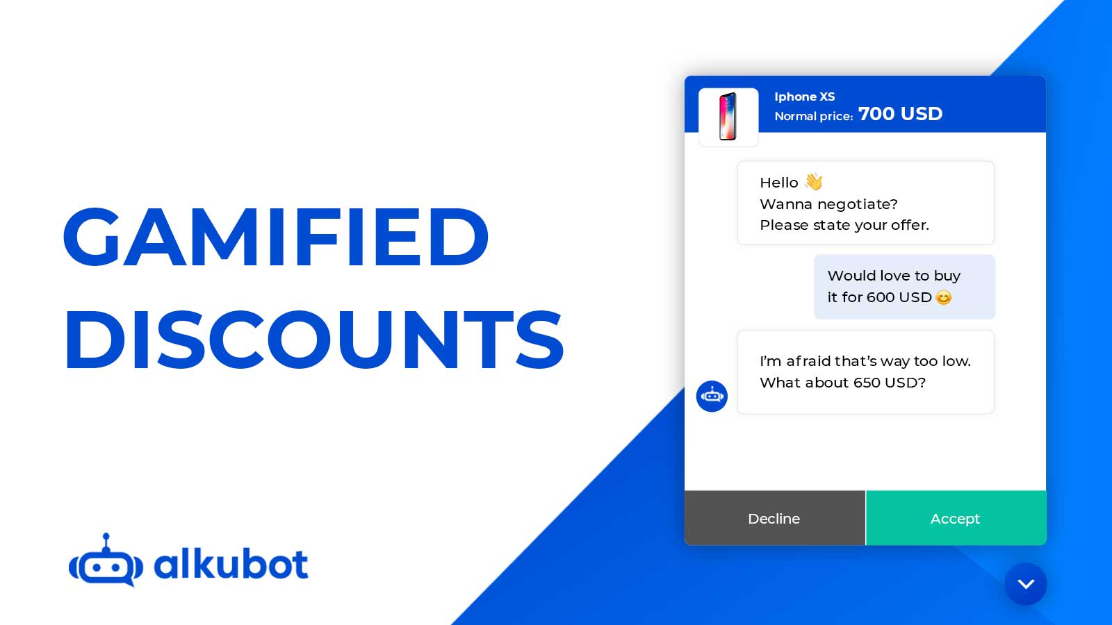 Gamified discounts with a sales chatbot