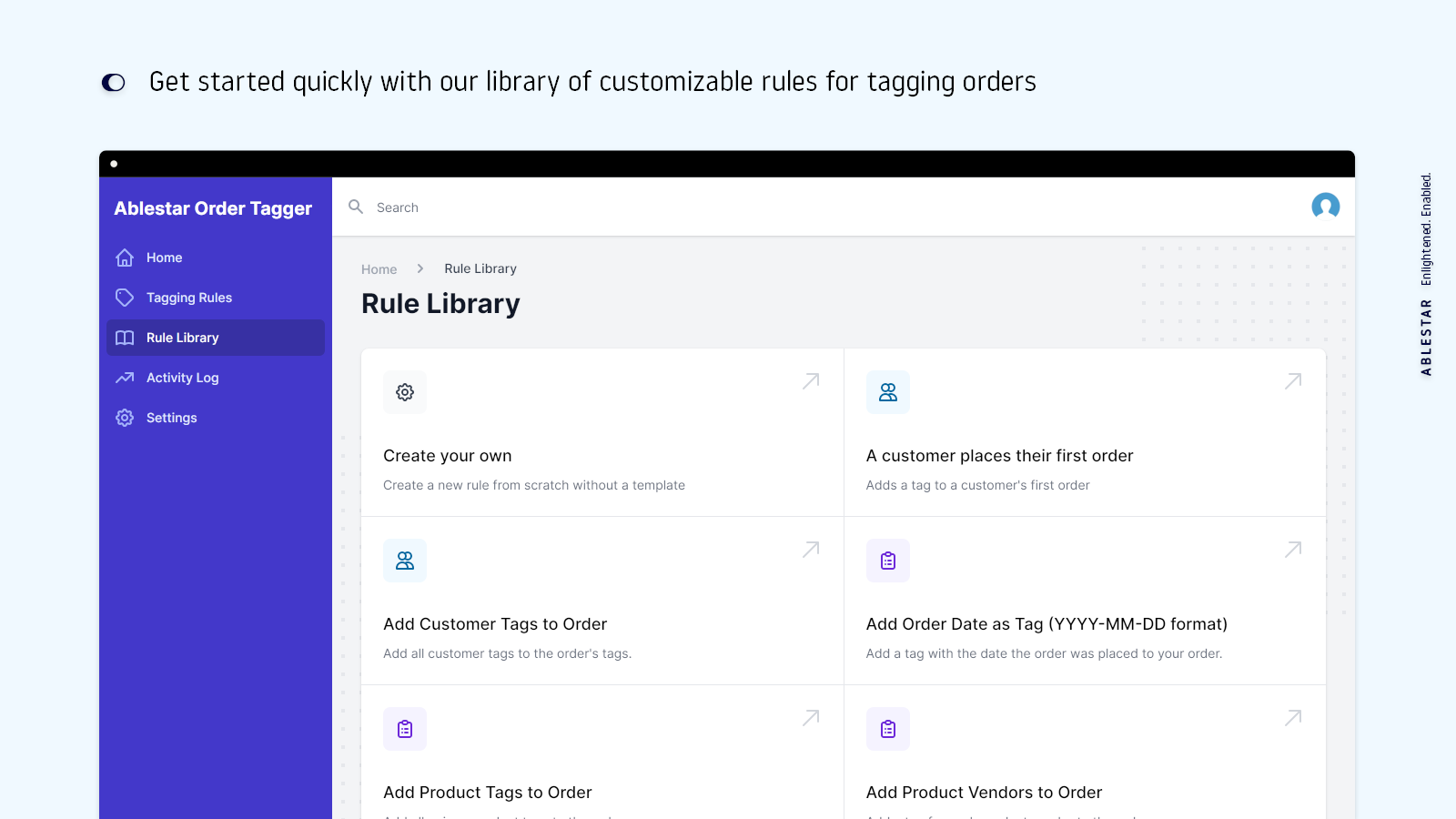 Get started quickly with our library of customizable rules for t