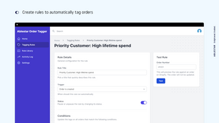 Create rules to automatically tag orders