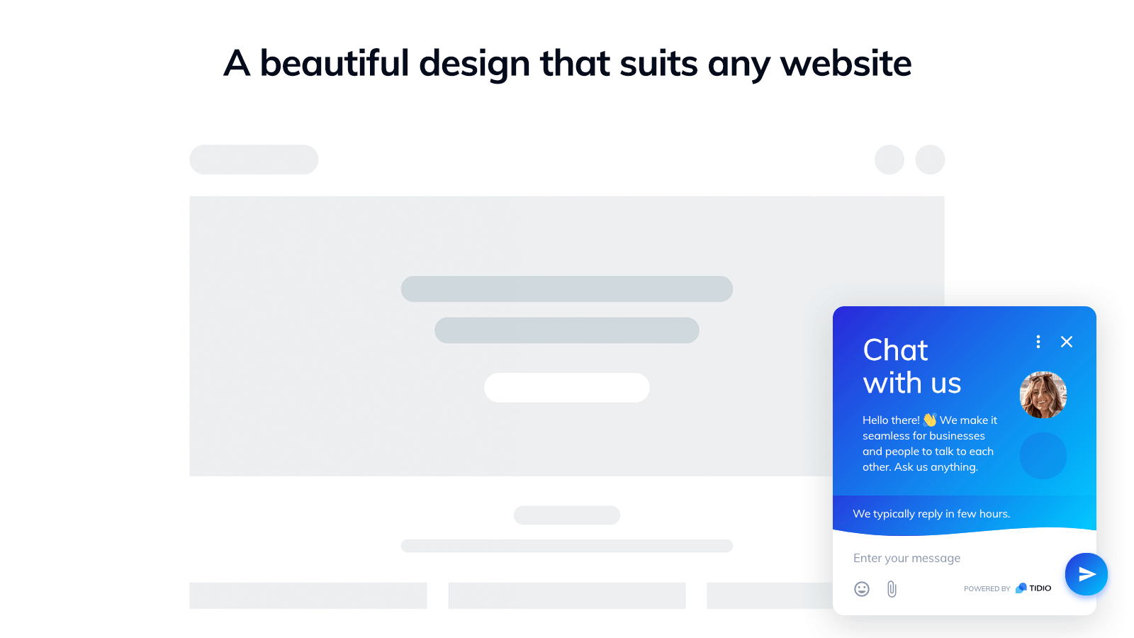A beautiful design that suits any website