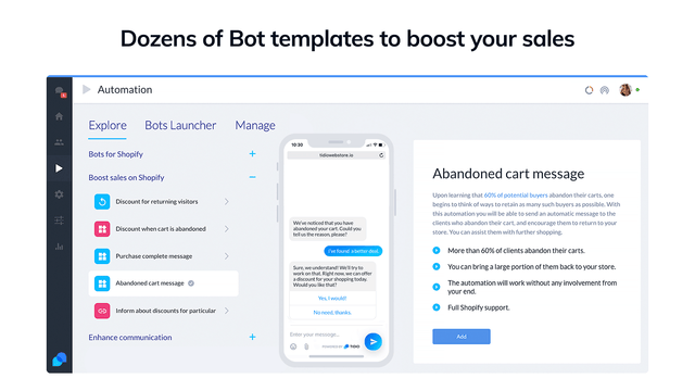 Bot templates to boost your sales