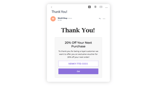 Next Order Coupons and Follow-up Email Reminders