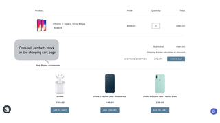 Related Products Manager app for Shopify - Shopping cart