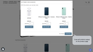 Related Products Managerapp for Shopify - Product page