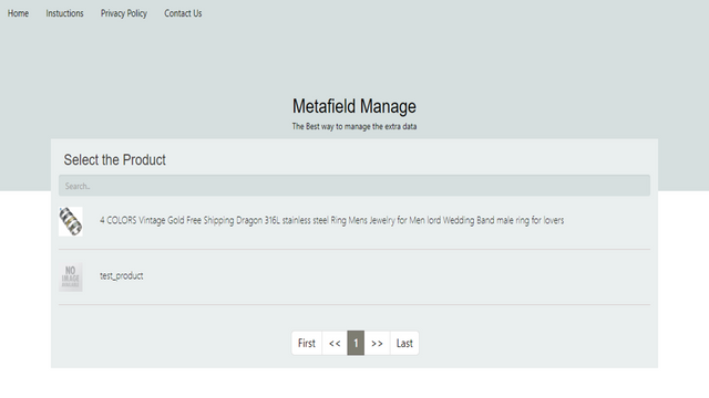 adding Products lists in Metafields