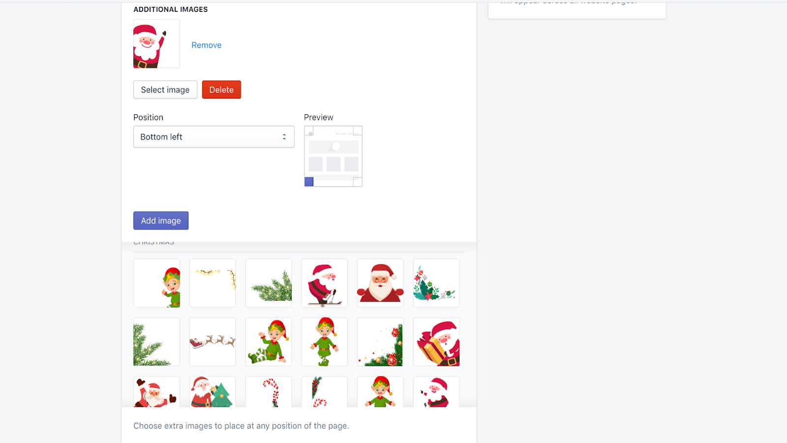 Holiday site effects and decorations app―The main settings 3
