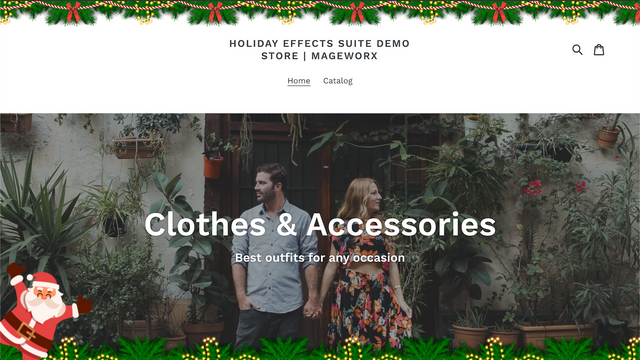 Holiday site effects―any holiday & custom images
